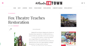 Fox Theatre Teaches Restoration - Atlanta INtown Paper